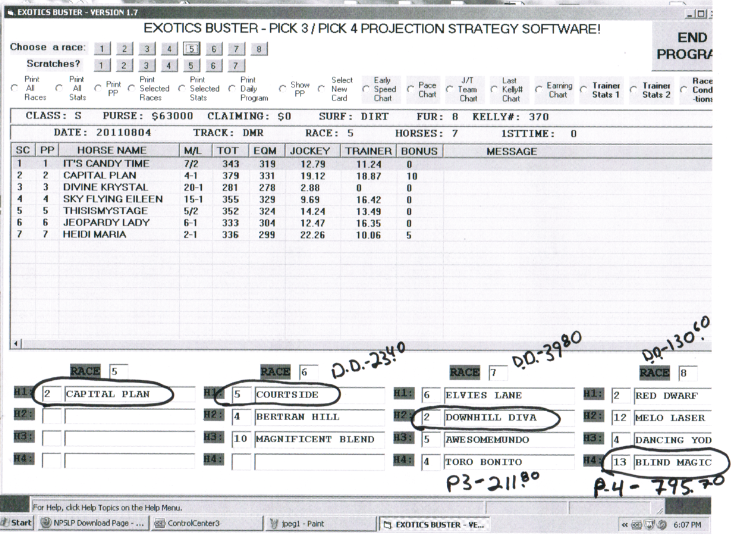 EXOTICS BUSTER II – PICK 3/PICK 4 PROJECTION STRATEGY