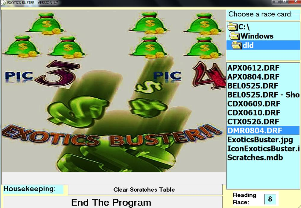 EXOTICS BUSTER II – PICK 3/PICK 4 PROJECTION STRATEGY SOFTWARE!!