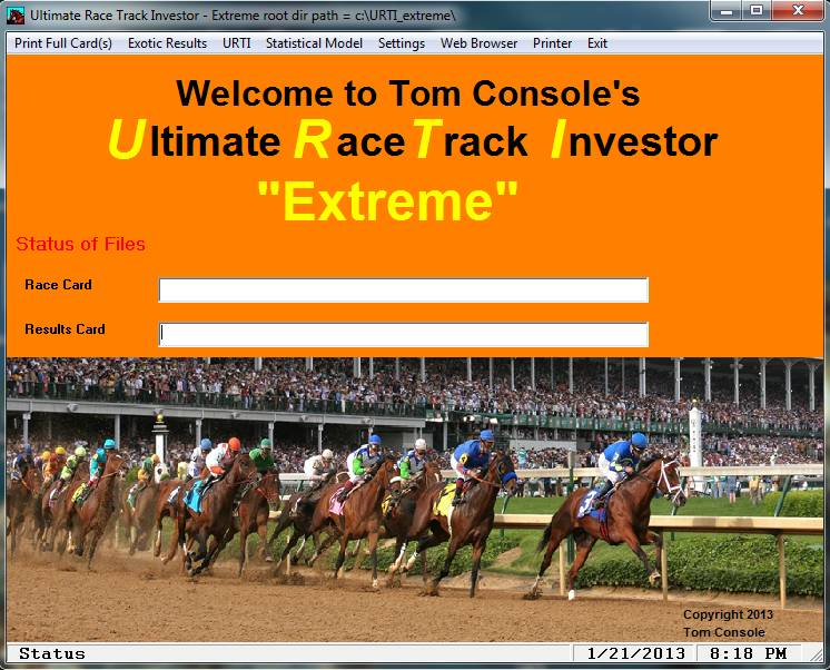 Tom Console's URTI Extreme!! Horse Race Handicapping