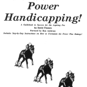 Power Handicapping, A Guide to the Aspiring Pro, Parts 1 & 2!  Ebook & Hard Copy