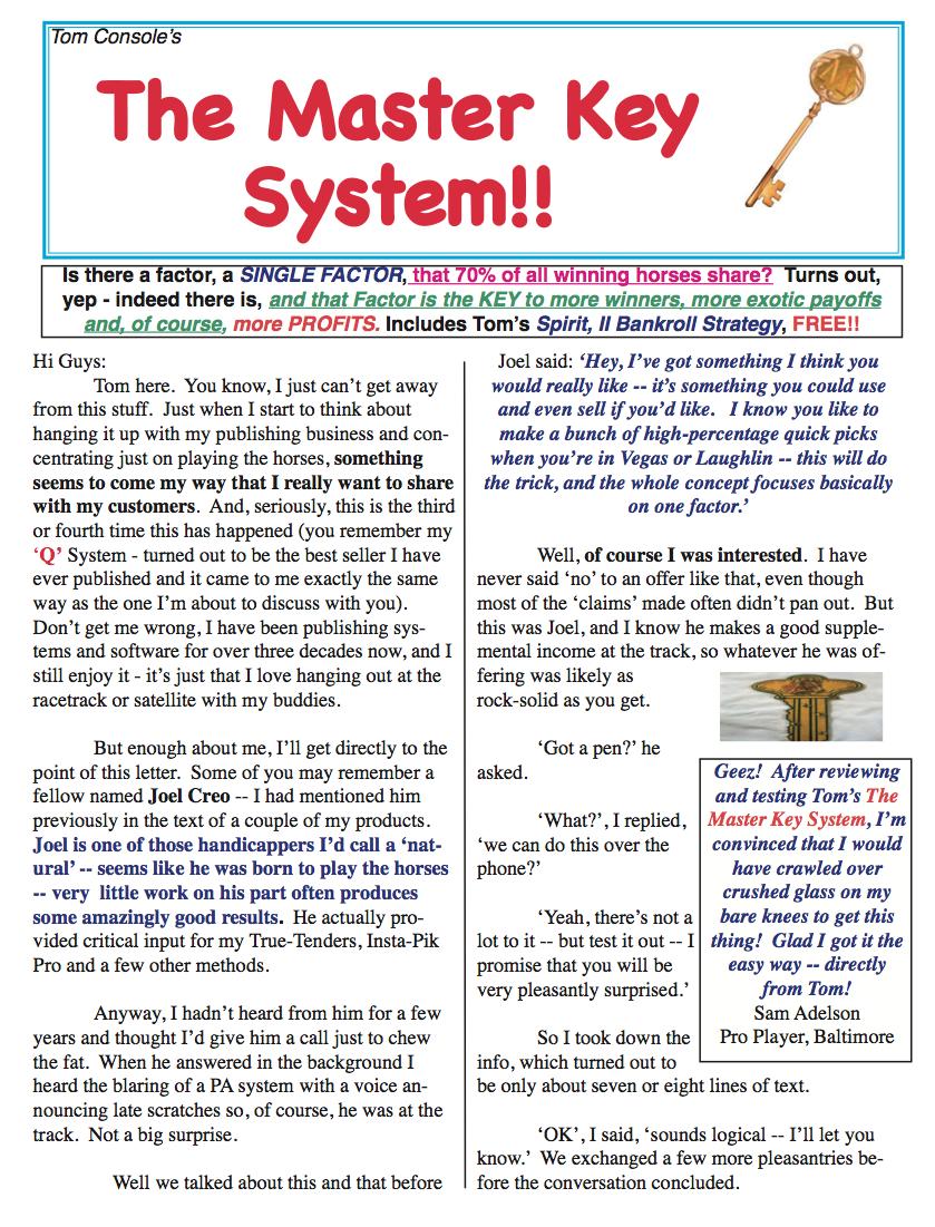 The Master Key System!