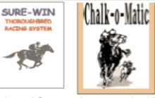 Sure Win & Chalk-O-MATIC Horse Racing Software!! Two NEW Consistency-Based Methods that Are Guaranteed to Result in More Cashed Tickets & More Profits! And at a Great Combo Price!!